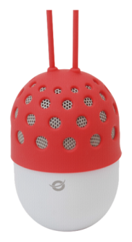 Conceptronic Wireless waterproof Bluetooth LED Speaker red