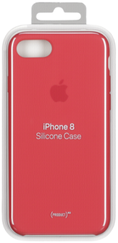 Apple iPhone 8 / 7 Silicone Case (PRODUCT) RED