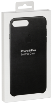 Apple iPhone 8 Plus / 7 Plus Leather Case Black