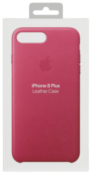 Apple iPhone 8 Plus / 7 Plus Leather Case Pink Fuchsia