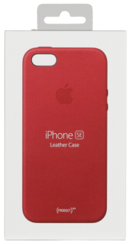Apple iPhone SE Leather Case (PRODUCT) RED