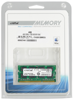Crucial 4GB DDR3 1333 MT/s CL9 PC3-10600 SODIMM 204pin for Mac