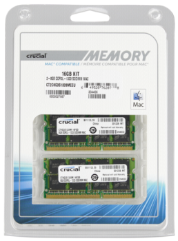 Crucial 16GB (2x8GB) DDR3 1333 PC3-10600 SODIMM 204pin for Mac