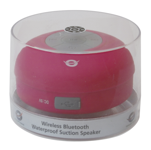 Conceptronic Wireless waterproof Bluetooth Suction Speaker pink